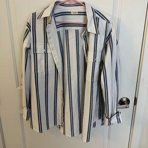 John Galt Oversized Button Up Shirt
